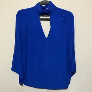 Elliatt Blue Choker Neck Top Sz XS